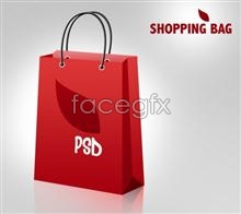 Link toSupermarket mall red shopping bags design psd source file