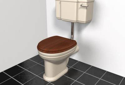 Link toSupplies bathroom / toilet / wash tank 3d model