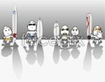 Link toSurf cartoon characters vector