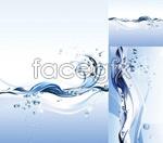 Link toSurge of water topics vector