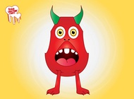 Link toSurprised cartoon monster vector free