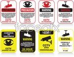Link toSurveillance cameras alerts vector