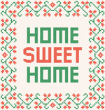 Link toSweet home cross stitch vector