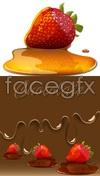 Link toSweet strawberry jam vector