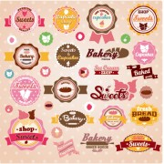 Link toSweet with ice cream labels cute design vector 02 free