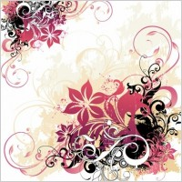 Link toSwirl and flower background free vector graphic