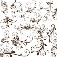 Link toSwirl floral decorative element vector graphic