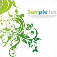 Link toSwirl floral vector background