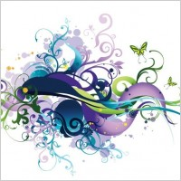 Link toSwirl floral vector graphic