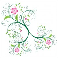 Link toSwirl floral vector