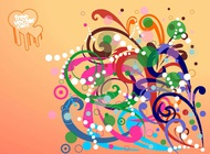 Link toSwirling flowers design vector free