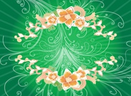Link toSwirls and flowers background vector free