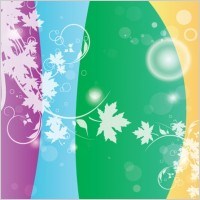 Link toSwirly flower colors vector
