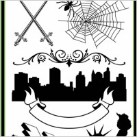 Link toSword spiders urban silhouette lightning the statue of liberty and other pattern vector