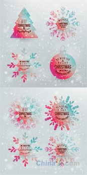 Link toSymphony of christmas tags design vector