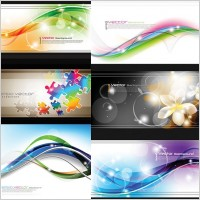 Link toSymphony of curves and flowers vector background