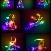 Link toSymphony of light christmas vector graphics