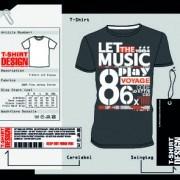 Link toT-shirt print and tag design vector 04
