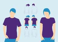 Link toT-shirts models vector free