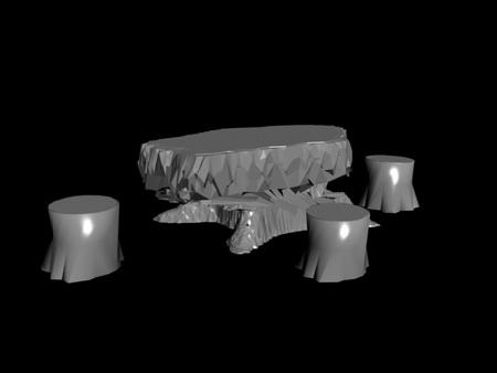 Link toTable 3d model of white mold