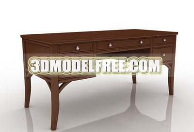 Link toTable, office desk solid wood furniture, home life 3d models