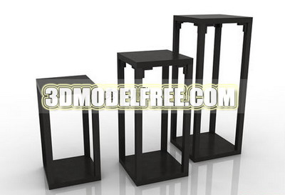 Link toTable stool bed bed wooden bed table, dresser solid wood furniture, wooden table 3d model