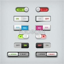 Link toTable system switch switch button ui design psd