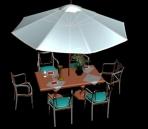 Link toTables  and  umbrellas portfolio 3d model