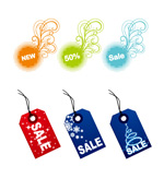 Link toTags hanging card vector
