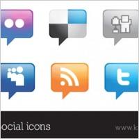 Link toTalk bubble vector social icons set
