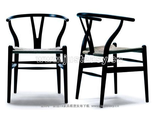 Link toTall black chair china 3d model