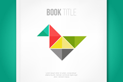 Link toTangram decorated book covers vector graphics