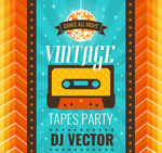 Tape party poster vector