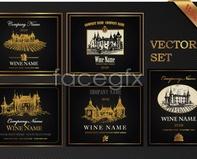 Link tovector gorgeous castle bottle label pattern Tape