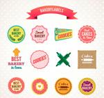 Link toTasty baking labels vector
