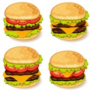 Link toTasty burgers icons vector graphics free