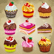 Link toTasty cupcakes vector icons design free