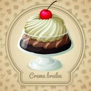 Link toTasty dessert background design vector 05 free