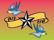 Link toTattoo birds vector free