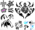 Tattoo tattoos 2 vector