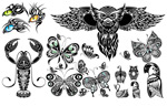 Tattoo tattoos 3 vector