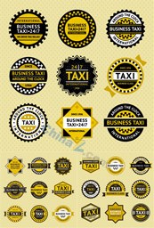 Link toTaxi sticker tag vector