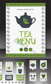 Link toTea label design vector