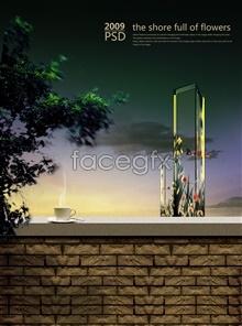 Link toTea tasting psd advertising