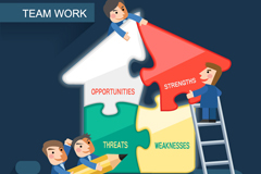Link toTeamwork business information maps vector