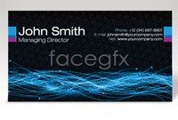 Link toTech beam business card template vector