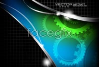 Link toTech gear background vector