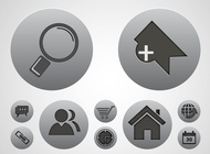 Link toTech icons vectors set free