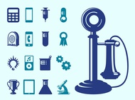 Link toTechnology and science icons vector free
