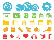 Technology icons pack vector free